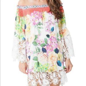 Hale Bob Alexandra Satin Woven Dress L